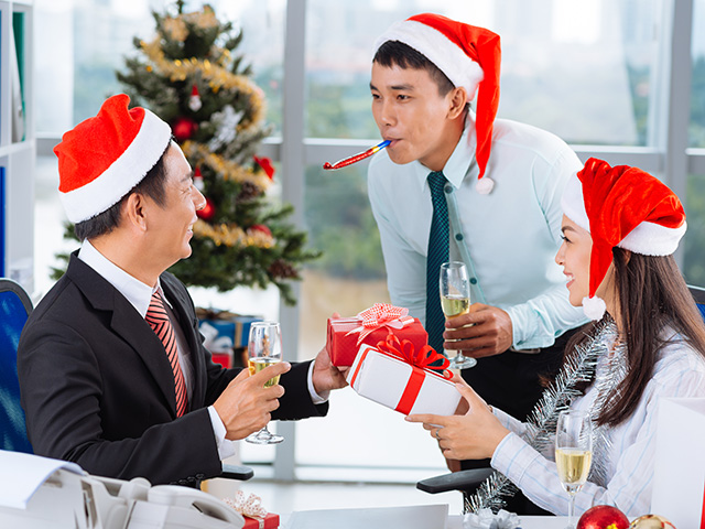 Professionals Doing Holiday Shopping For Themselves, Not Co-Workers