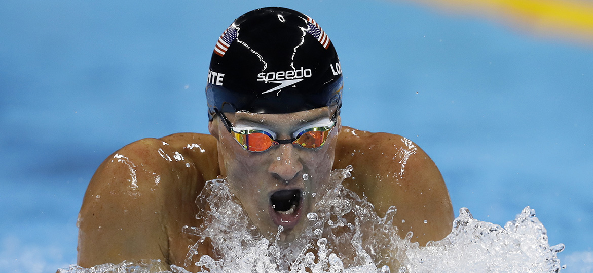 Ryan Lochte swims in Rio