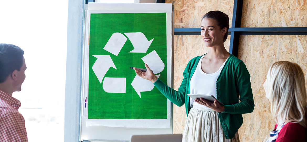 Some 59% of North American professionals say their offices have made environmentally friendly changes in the last 3 years.